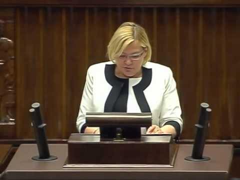 [341/594] Krystyna Poślednia: Pani Marszałek! Panie Ministrze! Wysoka Izbo! Chciałabym w tym mi..
