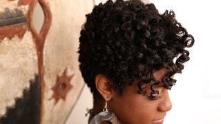 Transition To Natural Hair Heatless Perm Rod Set Pixie