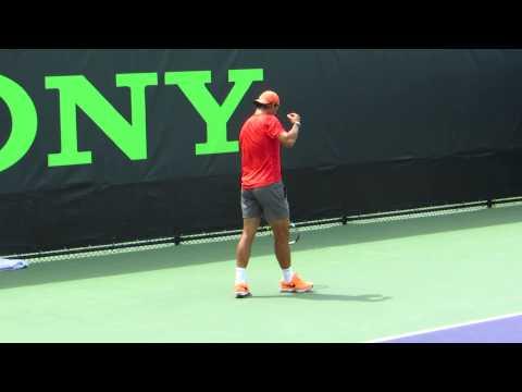 Rafael Nadal practice clip #3 3/24/14