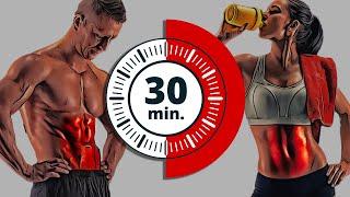 Hacer abdominales en casa