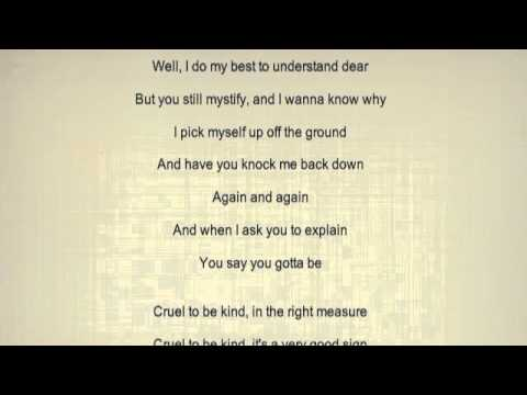 Cruel to be Kind Letters to Cleo Lyrics - YouTube