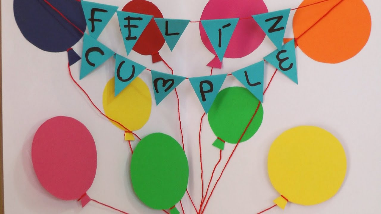 Manualidades para regalar tarjeta feliz cumplea os - Ideas para decorar cumpleanos de adultos ...