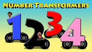 Number Transformers - Transforming Vehicles Into Numbers For Kids