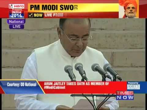 Arun Jaitley takes oath as member of Modi Cabinet