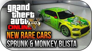 GTA 5 Online NEW Rare Cars Space Monkey Blista & Sprunk