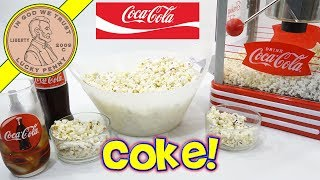 Coca Cola Retro Kettle Popcorn Popper Machine - Make Parmesan Popcorn & Ice Cold Coke!