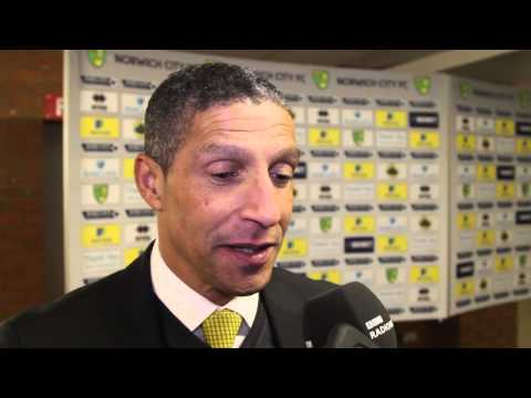 Norwich City 1-0 Tottenham: Chris Hughton reacts to victory over Spurs