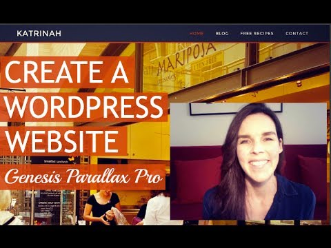 How To Make A Website In 2 Hours! WordPress Training (StudioPress Genesis Parallax Pro) 2014