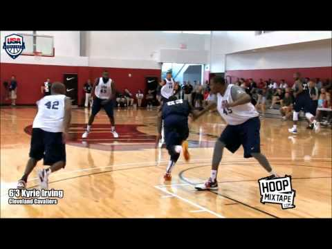 Kyrie Irving crossover on  Kobe ,Durant ,Westbrook, Harden (Team USA) 2012