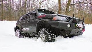 Снега по Яйка. Mitsubishi Pajero Sport и Toyota 4Runner off-road.. Полный Привод 4х4 - Офф Роуд Видео.