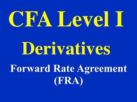 CFA Level 1- 2015- Derivatives- Forward Rate Agreement