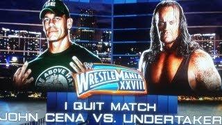 Undertaker Vs John Cena WRESTLEMANIA 30 I Quit Match