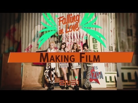 2NE1 - FALLING IN LOVE M/V Making Film
