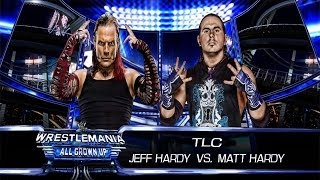 WWE 2K14: Jeff Hardy Vs Matt Hardy- TLC Match