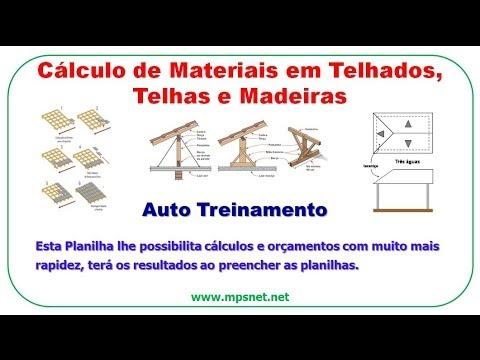 Cálculo de Materiais em Telhados, Telhas e Madeiras SE0072
