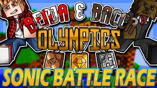 Minecraft: Benja & Bacca Olympics Game 1 - Sonic Battle Race!