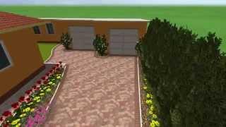 3D prezentácia cesty do garáže - SEKA mix