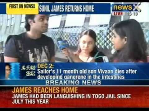News X: Captain Sunil James, reaches home. Father finally meets dead baby.