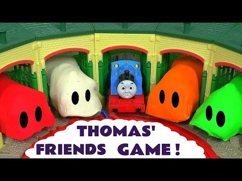 Thomas and Friends Toy Trains Play Doh Stop Motion Game Guessing Game Fun Kids Video ToyTrains4u