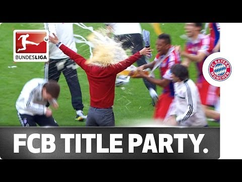 FC Bayern Celebrate Like True Champions
