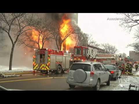 Hình ảnh trong video Fire Rips Through Minneapolis Building