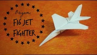Origami F16 Jet uçak yapımı - kağıttan F 16 yapılışlı