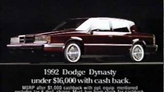 '92 Dodge Dynasty Commercial (1991)