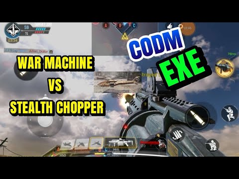 WAR MACHINE VS STEALTH CHOPPER - CALL OF DUTY MOBILE EXE FUNNY MOMENT