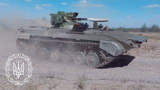 Випробування БМП-1 з двигуном Deutz і бойовим модулем «Шквал»