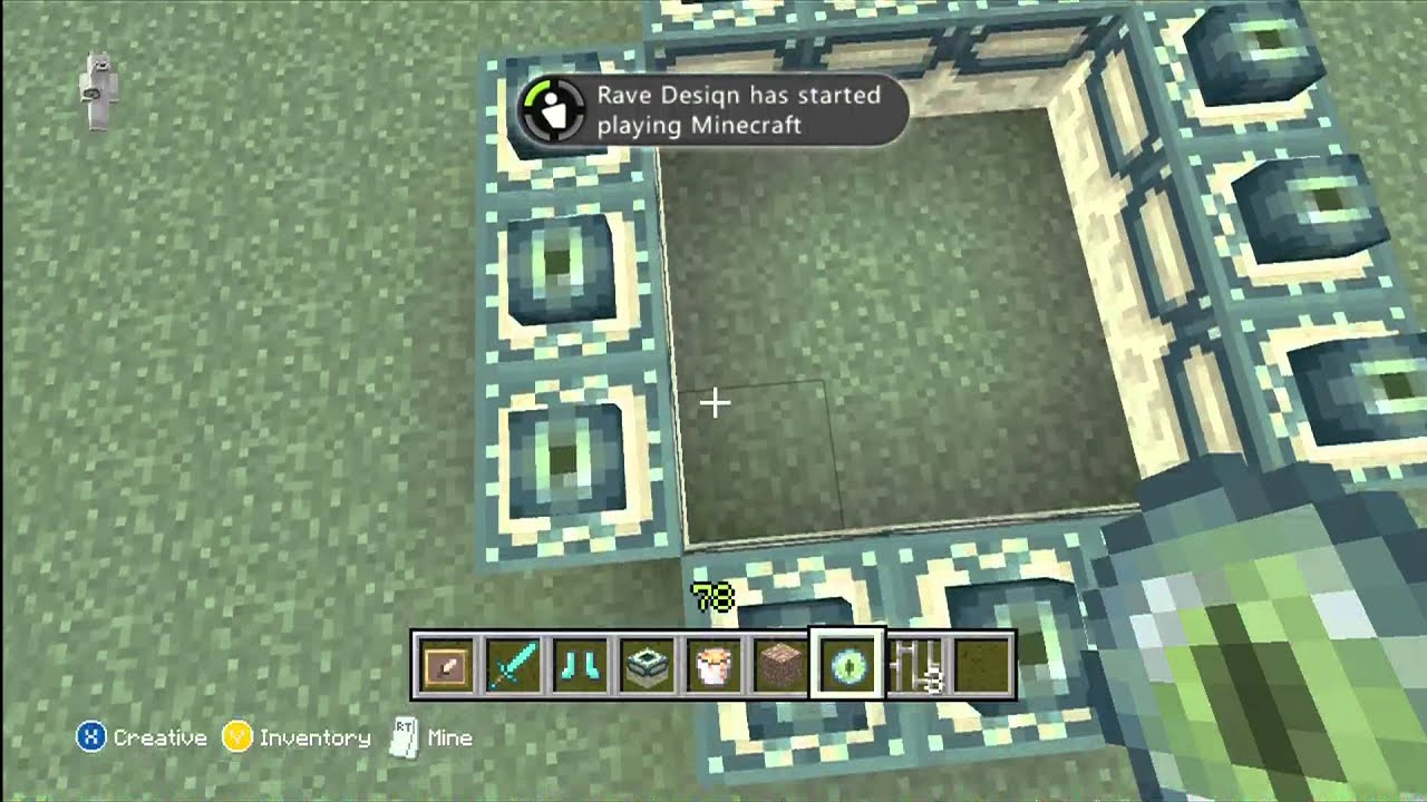 minecraft xbox 360 how to make a portal to heaven
