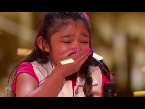 Angelica Hale gets GOLDEN BUZZER after burning down AGT with GIRL ON FIRE  AGT S12 Episode 8
