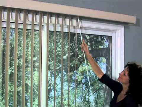 Bali Vertical Blinds One Touch Wand Control Blind And