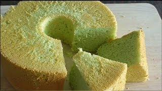 How to Make Pandan Chiffon Cake (班兰戚风蛋糕)