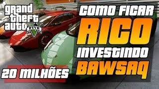 (PS3)GTA V COMO FICAR RICO(20.000.000,00) INVESTINDO EM
