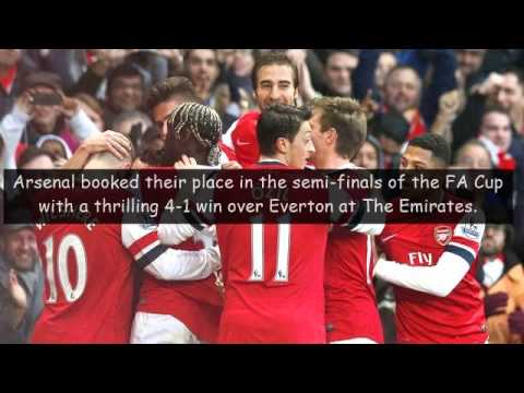 Highlights Arsenal VS Everton 5 - 1 All Goals 2014 HD