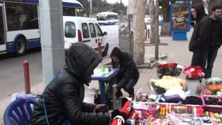 Ghiocei se vînd și azi în mod ilegal pe bulevardul central