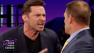 John Cena Teaches Hugh Jackman Reverse Trash Talking