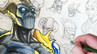 Drawing a Cybernetic Demon! (Character Design Session)