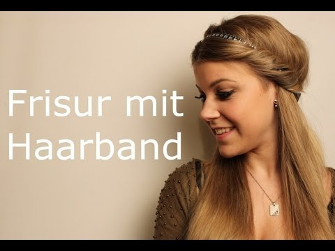 eingedrehte frisur mit haarband 120sc youtube. Black Bedroom Furniture Sets. Home Design Ideas