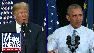 Trump, Obama face off on the campaign trail this fall