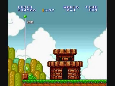 "Super Mario Bros. Lost Levels Speed Run in 8:35, Known as スーパーマリオブラザーズ2 or SMB2J: The Lost Levels. Super Mario Bros. All Stars: Lost Levels SNES (w. Luigi) complete in 8'35""17 (From start World 1-1 to World..."