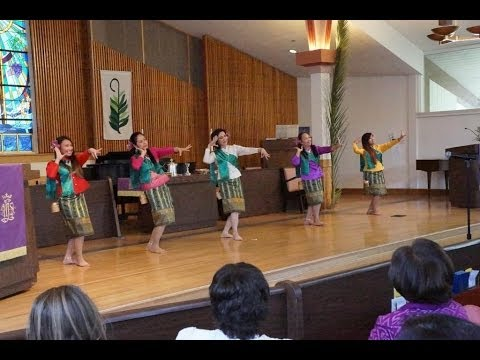 ฟ้อนกะติบ @The First Thai Presbyterian Church of San Jose - Praise Him with timbrel and dancing;