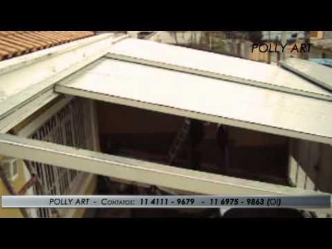 GARAGEM 7,50 M XS 4,50M POLICARBONATO RETRATIL