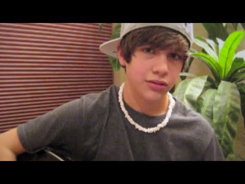 """One Time"" Justin Bieber acoustic cover - Austin Mahone"
