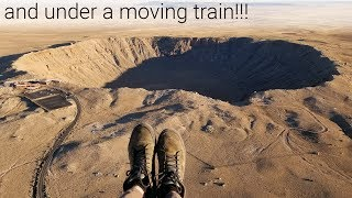 Flying Over A 50,000 Year Old Meteor Crater!!