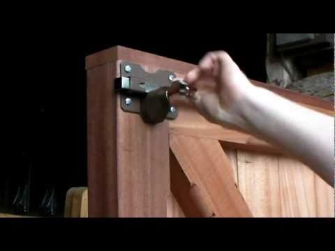 Wooden Gate Lock Garage Door Lock Installation Guide