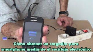 Cargador para smartphone mediante reciclaje electrónico