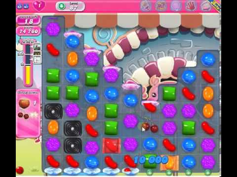 How to beat Candy Crush Saga Level 87 - 3 Stars - No Boosters - 162