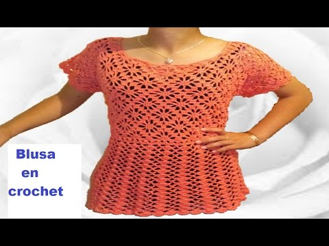 Blusa de piñas - arañitas - rombos en crochet - punto fantasia - crochet viral parte 1