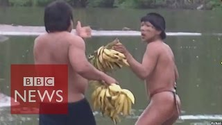 Face To Face With Isolated Amazon Tribe In Brazil BBC